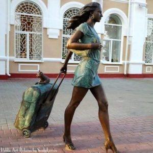 utazás macskás bőrönddel