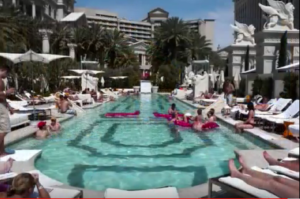 Ceaser's Palace pool