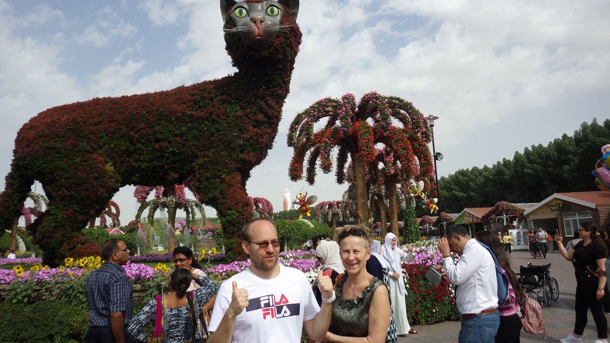 Dubaj (11.) Miracle Garden, avagy a nagy macska árnyékában
